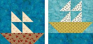 Easy Sailboats Quilt Pattern with 2 Quilt Blocks & sailboat quilt block pattern Adamdwight.com