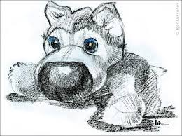 cute puppy drawings in pencil for kids. Brilliant Cute Stuffed Toy Puppy Sketch Drawing On Cute Puppy Drawings In Pencil For Kids