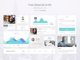 Free Material Ui Kit Psd Psdboom