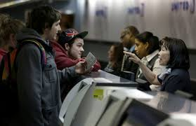 Image result for airline ticket agent and customer