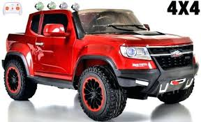 Red Power Wheels Truck Fire 4 Wheel Drive Ride On Pickup W Remote ...