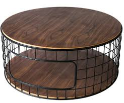 7 round coffee tables for industrial