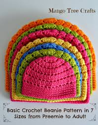 Quick And Easy Crochet Patterns Interesting Free Basic Beanie Crochet Pattern All Sizes Crochet Patterns