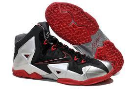 lebron red shoes. nike lebron 11 black sliver red shoes lebron