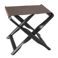 elica luggage rack dark brown wengé wooden frame with mokka leather by giobagnara
