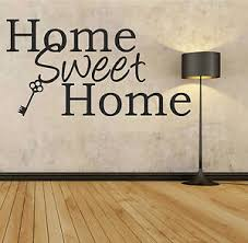 Small Picture HOME SWEET HOME with key Wall sticker decal quote gift home