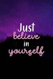 Purple Pink Northern Lights Just Believe In Yourself Northern Lights Notebook Journal