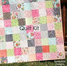 Fresh Cut Quilt Kit Basic Grey Moda Fabrics Precut Squares, Peach ... & Fresh Cut Quilt Kit Basic Grey Moda Fabrics Precut Sqaures, Peach Pink  Coral Yellow, Adamdwight.com
