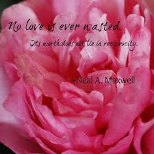 Lds Love Quotes Enchanting No Love Is Ever Wasted Its Worth Does Not Lie In Reciprocity