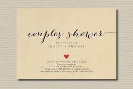 Couple Wedding Shower Invitations Simple Wedding Shower Invitation Couples With Heart