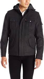 <b>Levi's</b> Men's <b>Wool</b> Blend Four Pocket Hoody with Jersey Hood ...