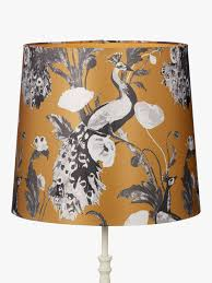 John Lewis Partners Java Tall Tapered Lampshade Yellow Ochre At