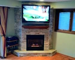hanging a flat screen over gas fireplace nice corner hang tv in how to lcd on wall firep