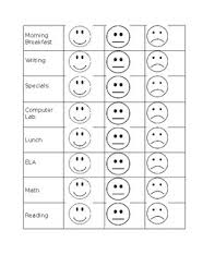 Behavior Chart Smiley Face Worksheets Teaching Resources Tpt