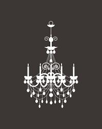 chandelier clipart stencil 5