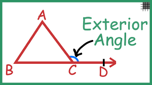 what is the relation of an exterior angle of a triangle with its interior angles you