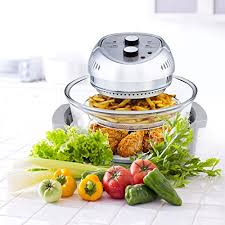 infrared halogen convection oven with stainless steel extender ring 12 6 18 quart healthy low fat cooking