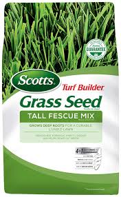 Scotts Turf Builder Grass Seed Tall Fescue Mix 7 Lb Full Sun And Partial Shade Resists Heat And Drought Insects Disease And Helps Crowd Out
