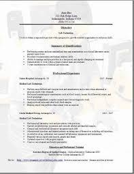 Medical Technologist Resume 19 Ct Cv Cover Letter
