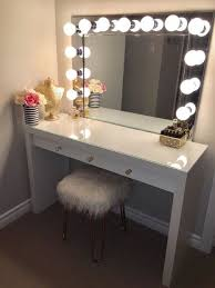 diy makeup vanity mirror. VANITY MIRROR WITH DESK \u0026 LIGHTS Diy Makeup Vanity Mirror Pinterest