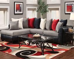 living room black and red room rugs shaker decoration sectional dark sofas beige velvet sofa