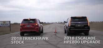 Hennessey's Cadillac Escalade Takes on the Trackhawk