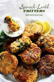 spinach lentil fritters deliciously crispy fritters made with lentils and spinach and served with