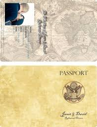 Passport Invitation Templates needed please - Weddingbee