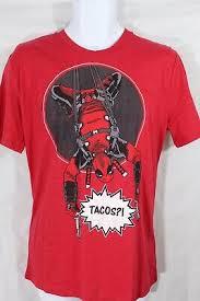 Loot Crate Shirt Size Chart New Loot Crate Exclusive Marvel Deadpool T Shirt Tacos Mens