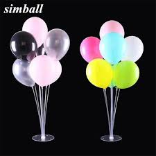 Us 3 18 15 Off 1set Clear Base Pole Balloon Stick Diy Wedding Decoration Latex Balloons Table Floating Balloon Supporting Rod Balloon Holder In