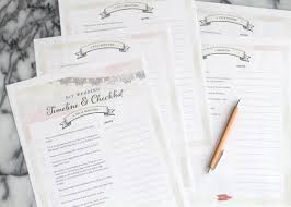 Printable Wedding Timeline Checklist Free Wedding Planning Timeline Checklist Printable The Elli Blog