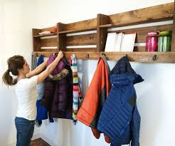 Diy Wall Mounted Coat Rack With Shelf 100 Creative Wall Hooks And Cool Coat Racks Part 100 Regarding Unique 73