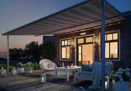 awnings with lights heaters sound