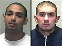 Foley (left) pulled the trigger but Shane Thomas was the ringleader - _43039835_foleyandthomas203