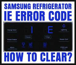 Samsung Refrigerator 1E Error Code - How To Reset Refrigerator Display?