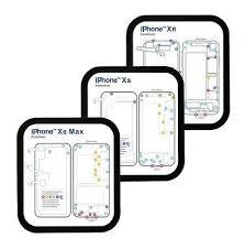 Iphone Screw Chart 12 In 1 Magnetic Screw Chart Mat Repair Guide Pad Iphone 6 7 8 P X Xs Xr Xs Max Ebay