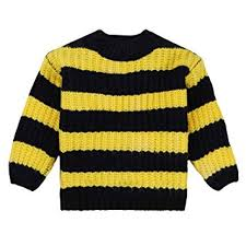 Crochet Baby Sweater Size Chart Amazon Com Foutou Toddler Baby Girls Knitted Stripe Sweater