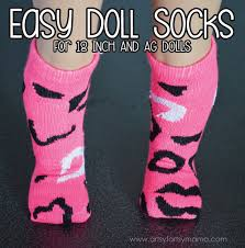 keep your ag dolls tootsies warm diy doll socks