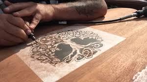 Wood Carving Dremel Dremel Wood Carving Project Headboard Part 1 Youtube