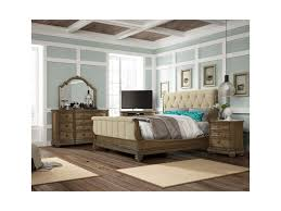 Touraine Queen Upholstered Sleigh Bed by Fairmont Designs