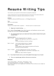 Styles Resume Writing Tips Tips For Writing A Good Resume Free Resume  Example And Writing