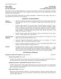 resume of social worker