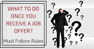 What To Do Once You Receive A Job Offer Must Follow Rules Wisestep