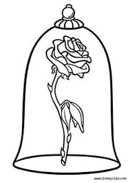 beauty and the beast rose drawing step by step at getdrawings beauty and the beast enchanted rose suncatcher beauty and the beast coloring pages
