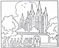 Small Picture 14 Pics Of LDS Temple Outline Coloring Page Temple Coloring Page