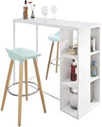 Amazonfr Table Bar De Cuisine Rangement