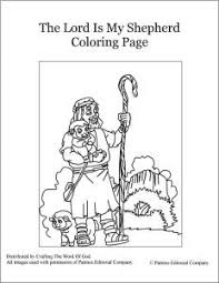 The Lord Is My Shepherd Coloring Page Crafting The Word Of God