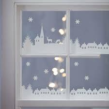 Fensterbilder Weihnachten Stadt Schoen Originell