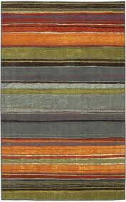mohawk new wave rainbow blue grey contemporary striped 1 8x2 10 rug 10474