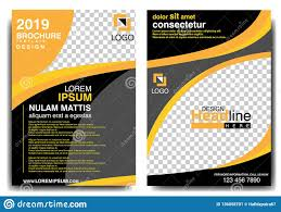 Basic Flyer Template Modern Brochure Design Template 2019 With Black And Orange